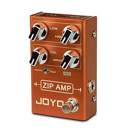 JOYO R-04 ZIP AMP Pedal Effect Strong Compression Overdrive Pedal Simulate Amplifier Effect Pedal for Electric Guitar True Bypass