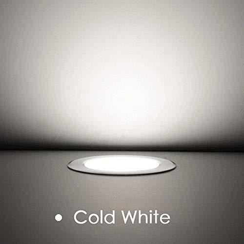 BFMBCHDJ Slim Led Downlight Encastré Downlight Ronde Spotlight Salon Chambre Cuisine Lampe Intérieure (2 pcs) Blanc Froid AC 110 V 18 W