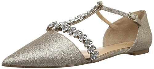 Jewel Badgley Mischka Women's MAURY Shoe, gold glitter, 9.5 Medium US