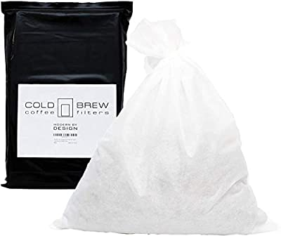 "Modern By Design 50 Pack of Large 20"" x 24"" Commercial Cold Brew Coffee Filter, Disposable Mesh Brewing Sock for Concentrate Coffee / Tea, Strong and Extra Large (XL) for Batch Brewing"