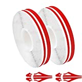 Autrends Car Vinyl Pinstriping Tape, 2pack Stripe Decals Car Stickers Auto Striping Tape Emblems Trim for Motorcycle Home DIY Door Musical Instrument 32Ft (9.8m) (Red)