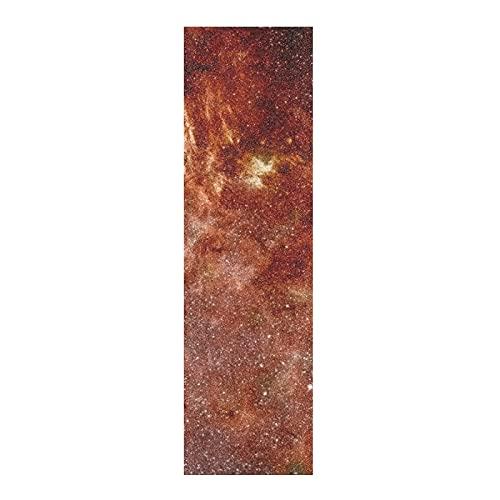 Arte Universo Espacio Estrella Papel de Lija para monopatín Antideslizante Skateboard Grip Tape Hojia Cinta de Agarre Lijas 84x23cm para Longboard Scooter