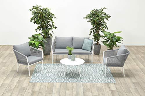 Garden Impressions Aluminium Rope-Lounge Fleurie, inklusive wasserabweisender Kissen