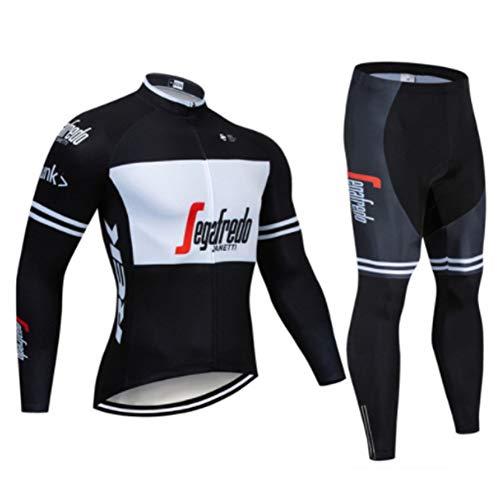 Sportswear à vélos Classiques REK - Maillots de Cyclisme d'hiver for Hommes à Manches Longues Pro Racing Club de Course - Vélo d'extérieur Vélo VTT Anti-UV VTT Cyclisme Cyclisme