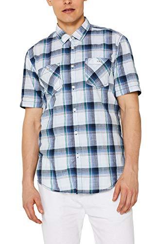 edc by ESPRIT Herren 059Cc2F010 Freizeithemd, Weiß (White 100), Large (Herstellergröße: L)