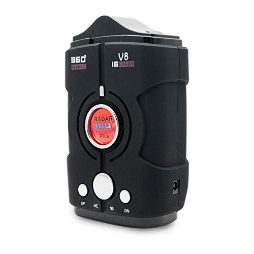 Détecteurs de radar pour voiture, MASO Détecteur de radar laser avec détection à 360 degrés, alerte vocale et système d'alarme de vitesse, mode ville/autoroute