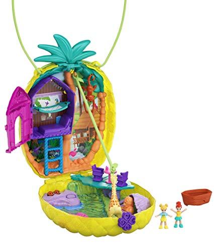 Polly Pocket Polly & Lila Tropicool Pineapple Wearable Purse Compact, Multi