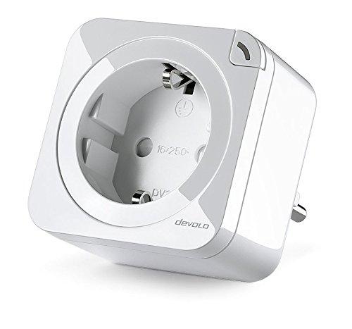 Devolo Home Control schakelstopcontact/meetcontactdoos 2.0 (schakelbaar stopcontact met Smart M functie, Z-Wave huisautomatie, huisbediening via iOS/Android app, Smart Home Aktor) wit, 1 stuk