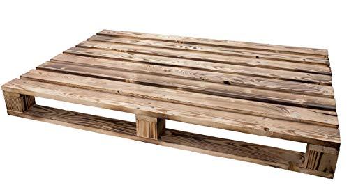 Palette geflammt 120x60x12,5cm (LxBxH) - Natur/Shabby/Vintage/Möbelbau - Palettnmöbel-Palettenregal - Bettbau - Weinkisten - Apfelkiste - Obstkiste (GEFLAMMT)