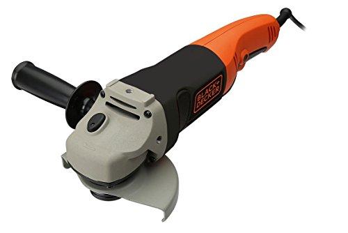 Black+Decker haakse slijper (met extra handgreep met 2 posities, 750 W) 1 stuk Slijpmachine 1200 W + koffer oranje