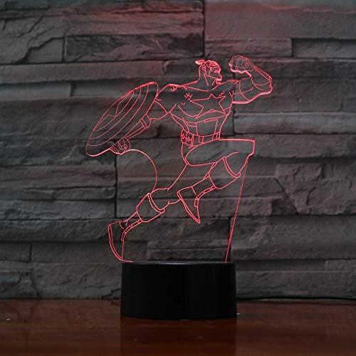 Nur 1 Kapitän mit Schild 3D Lampe Erstaunliche optische Täuschung Acryl Panel USB Touch Base Lampe Kinder Geschenk