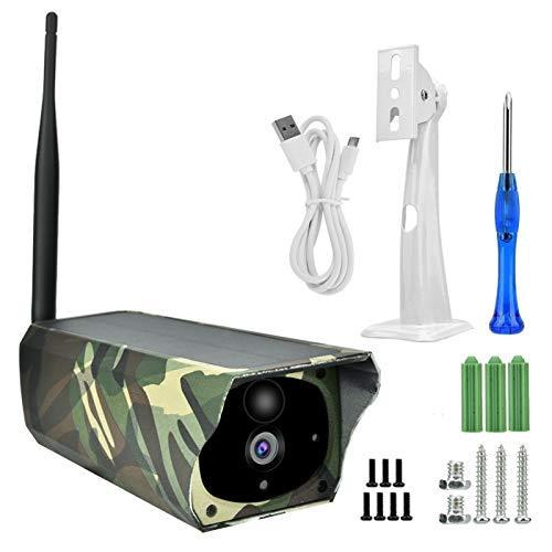 FOLOSAFENAR Monitor de Seguridad Cámara de Seguridad Solar inalámbrica 1080P con Alarma de detección de Movimiento