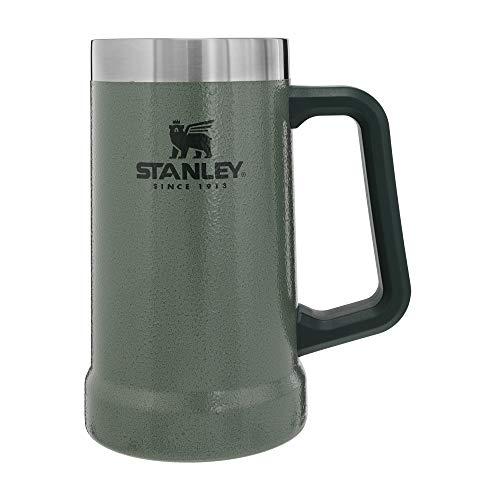 Stanley Adventure Big Grip Beer Stein, 24oz Stainless Steel Beer Mug, Double Wall Vacuum Insulation