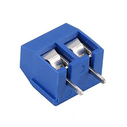 Simlug 100Pcs 3-Pin Pitch Schraubklemmenblock Anschluss 5.08mm Panel PCB Mount für Anschlussdrähte(KF301-2P 5.08mm)