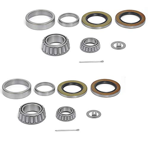FKG Trailer Bearing Kit for 3//4 Inch Straight Spindle Set of 4