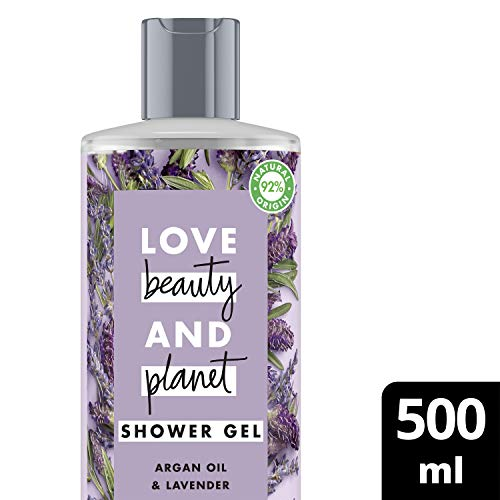Love Beauty and Planet Showergel Arganolie & Lavendel voor Ontspanning 500 ml - 1 stuk