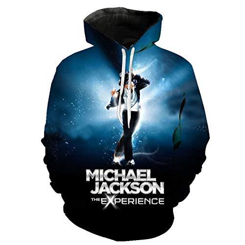 Michael Jackson Herren Plain Hoodie Casual Langarm Tasche Loose Pullover Sweatshirt Jacke Hooded Top Plus Size