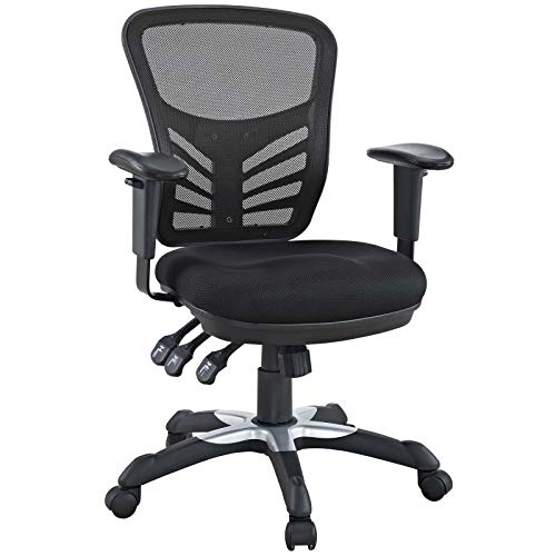 Modway EEI-757-BLK Articulate Ergonomic Mesh Office Chair in Black