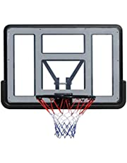 WOOCF Mini aro de Baloncesto Conjunto de Tablero Fijo montado en la Pared for niños Goal de Baloncesto Tablero Transparente de PVC con Bola y Bomba 110X75cm