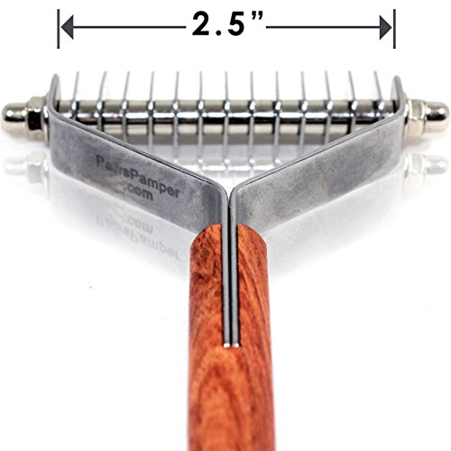 PawsPamper Extra Wide Undercoat Rake for Medium to Large Dogs, Cats - 13 Blade…