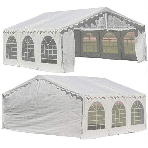 White 20'x20' Budget PE Party Tent Canopy Shelter with Waterproof Top