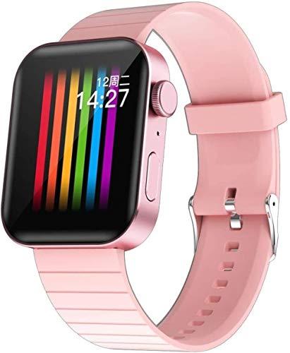 Pulsera Inteligente Bluetooth Reloj Móvil Recordatorio Inteligente Podómetro Android e iOS Moda/Negro-Rosa