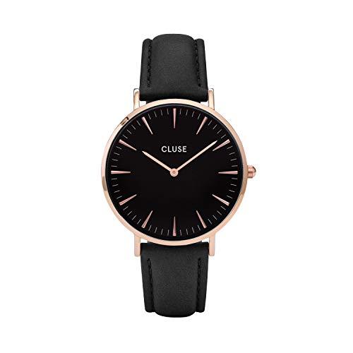 Cluse Damen-Armbanduhr Analog Quarz Leder CL18001