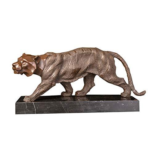 FENGJIAREN Figur,Statue,Statuen,Statuette,Skulpturen, Metall Kleine Tiger-Home Deko Antik Bronze Gegossen, Wilde Bengal Tiger Kunst Statue Skulptur