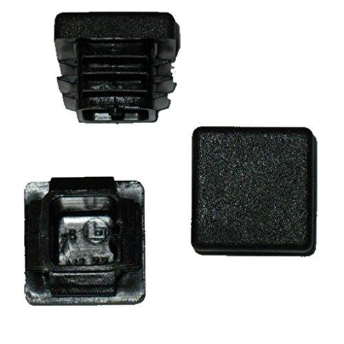 20 x Bouchon à lamelles carré rohrstopfen 22 x 22 mm (extérieur) Bouchon Noir