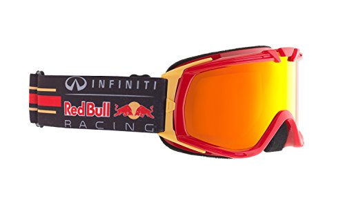 Red Bull Kinder Skibrille PADDOCK, shiny red race/yellow