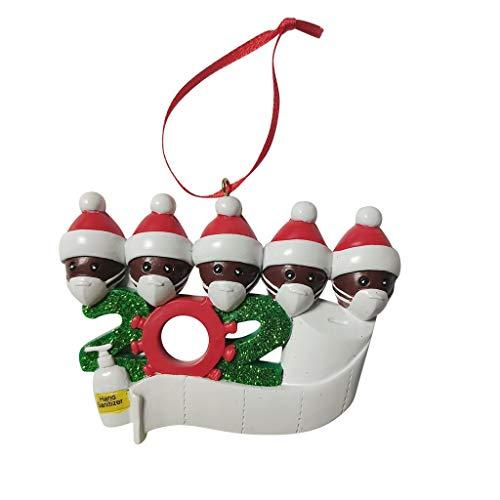 【Entrega rápida】 Decoraciones navideñas, goalBY 2020 personalizado sobrevivió familia de ornamento 2020 Navidad Navidad decoraciones (L)