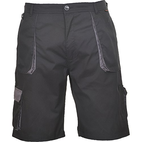 Portwest TX14BKRM Pantaloni Corti Texo, Nero, M