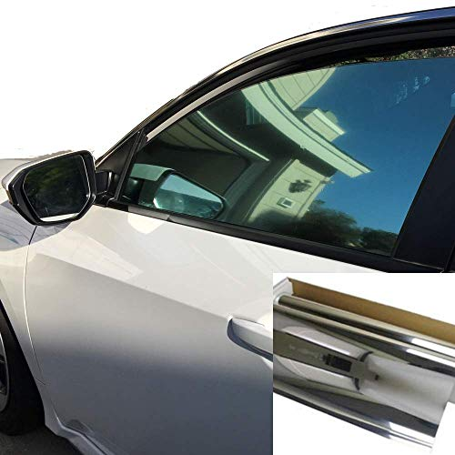 "One Way Mirror Reflective Car Window Color Tint Film 10%VLT. (20"" x10"