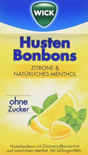 Wick Zitrone & Natürliches Menthol ohne Zucker Click Box, 10er Pack (10 x 46 g)
