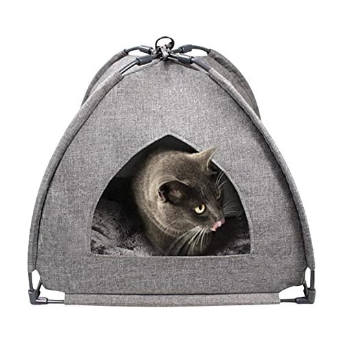 Tienda de Mascotas Catillas de Gato para Gatos para Interiores Cama de Gato Pequeña Cave Plegable Pet Tepee Tienda para Gatos Cama Linda Cama Cómoda Cama Cama Cama Cama Tienda de Gato y Perro Lavable