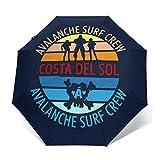 Final Fantasy Costa del Sol Avalanche Surf Crew Paraguas Compacto de Apertura y Cierre automático, Plegable, Parasol de Viaje