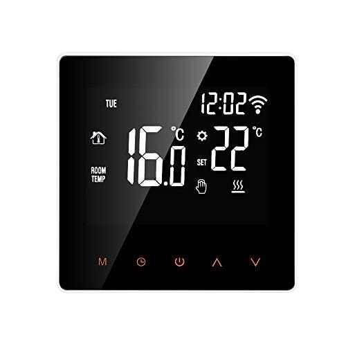 Smart Thermostat Digital Wi-Fi Raumthermostat programmierbar LCD Display Touchscreen APP Control Elektrische Wandthermostat mit Interner Sensor/Bodensensor, Kindersicherung, Speicherfunktion, 16A