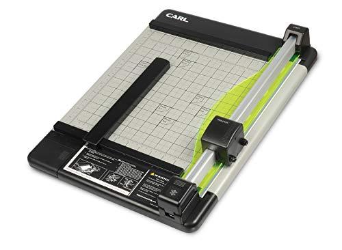 Carl Heavy Duty Rotary Paper Trimmer 12inch, black/silver (CUI12210)
