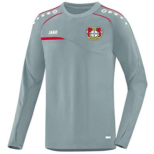 JAKO Herren Prestige (ohne Sponsoren), (Saison 19/20) Bayer 04 Leverkusen Sweat, grau, XL
