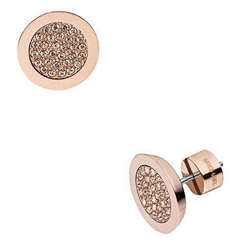 Michael Kors Women's Rose Gold-Tone Stud Earring MKJ2743791