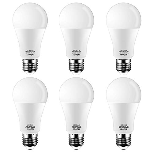 Ampoule LED Standard Culot E27,Blanc Chaud 2700K,14W équivalent 120W,Dépolie, Lot de 6