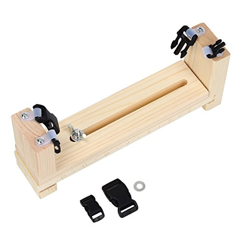 Yodensity - Kit di strumenti per lavori a maglia, per braccialetti fai da te, bracciali in paracord, Legno, M