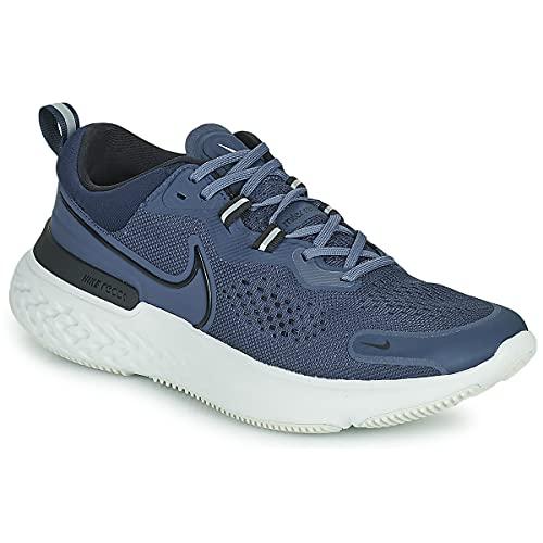 Nike React Miler 2, Zapatillas para Correr Hombre, Thunder Blue/Black-Obsidian, 41 EU