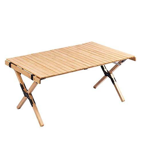 Mesa plegable portátil de madera, mesa para enrollar huevos al aire libre, mesa de barbacoa para acampar de picnic de alta resistencia, mesa de viaje portátil pequeña para exteriores, camping,barbac