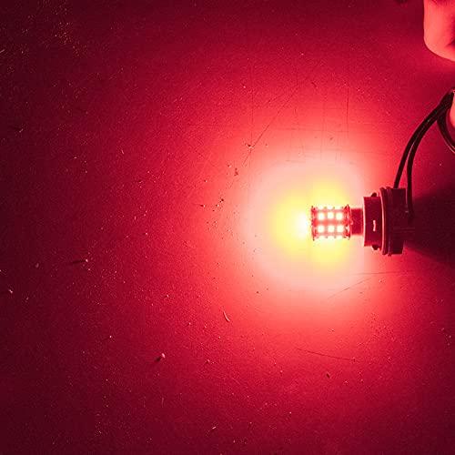 GSDGBDFE 2 unids 1157 BAY15D P21 / 5W 33 SMD 2835 LED Bombilla Blanca roja de la Cola de Coche 21 / 5W Luces de Freno AUTOMÁTICO Lámparas de Niebla Auto Luz de Funcionamiento diurno 12V 2X