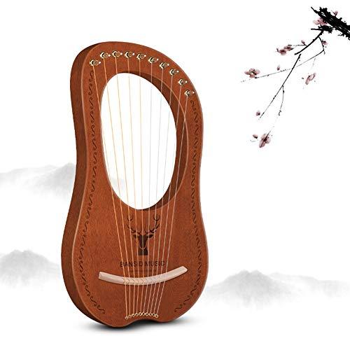 Logo 10/12/16 Zeichenfolge Harfe, Hölzern Streichinstrumente, Mahagoni Elegante Melodie Angebrachte Tasche, Stimmschlüssel, Ersatzschnur Für Anfänger, Erwachsene, Geschenk (Color : #E)