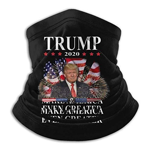 LisaArticles Scarf Headband,Trump 2020 Make America Aún Más Grande Diademas 12 En 1, Protectores Faciales A Prueba De Viento para Entrenamiento Al Aire Libre,26x30cm