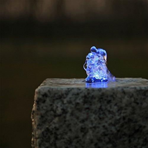 CLGarden Springbrunnen Beleuchtung LED Ring blau Kranz Lichtkranz für Gartenbrunnen Brunnen Wasserspiel Quellstein Bachlauf Teich
