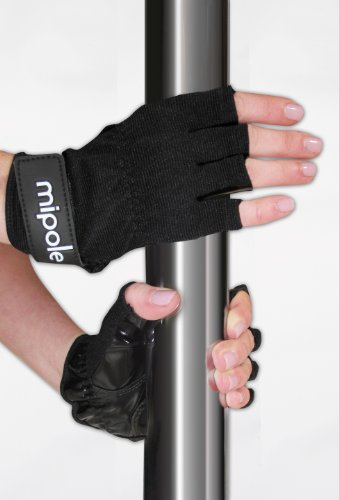 Mipole Dance Pole Dancing Gloves with Tack Strips for Gripping...
