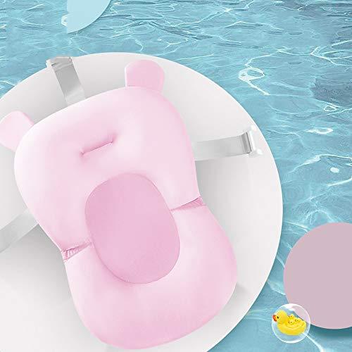 Baby Shower Rack pasgeborenen leveringen badkuip anti-slip pad tas baby bad net tas badmat (roze) roze 1